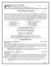 Music Teacher Resume Sample - Kleo.beachfix.co