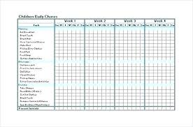 Chore Chart Templates Free Printable Picture Chore Chart Template Chanceinc Co