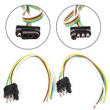 Trailer Light Wiring Harness 2 Trailer Light Wiring Harness Extension 4 Pin Plug 18 Awg