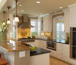 Kitchen Remodels, Amazing White Rectangle Modern Wood Small Kitchen  Remodeling Designs Stained Design: Small