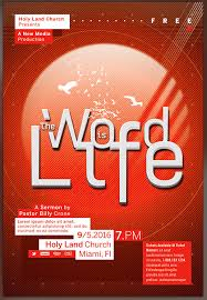 Concert Flyer Template For Word The Word Is Life Church Concert Flyer Template Preview Flickr