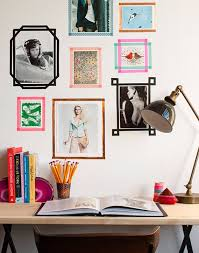 Best DIY Room Decor Ideas for Teens and Teenagers - DIY Tape Picture Frames  - Best