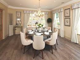 luxury small dining room with round table furniture and lighting