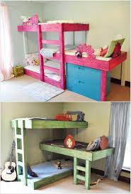 cool diy kids beds. Brilliant Kids 2 Triple Bunk Beds For Cool Diy Kids