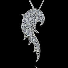 angel wing necklace diamond wing