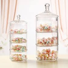 Decorated Candy Jars Continental 60layer wedding decorations candy jar transparent glass 41