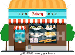 Vector Art Bakery Shop Front Veiw Icon Clipart Drawing Gg91168688