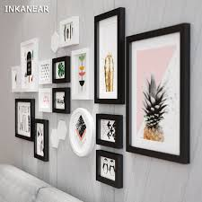 office wall frames. Large Size Photo Frames Modern Pineapple Office/Store/Home Wall Decoration Wood Painting Pictures Office V