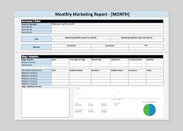 Weekly Marketing Report Template How To Build A Marketing Report Quickly Free Template