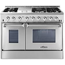 stove with double oven. thorkitchen hrd4803u 48\ stove with double oven