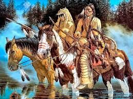 indians native american indians painting