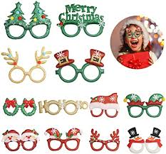TAZEMAT <b>12pcs Christmas</b> Novelty Glasses <b>Xmas</b> Photo Booth ...