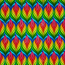 Colorful Patterns Adorable Seamless Patterns With Colorful Abstract Leaves Vector Set Royalty