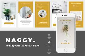 Impact is a big and bold font also known as the meme font. Naggy Instagram Stories Graphic By Tmint Creative Fabrica
