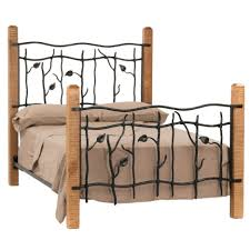 iron bedroom furniture. Choosing Your Wrought Iron Bedroom Set : Beautiful Furniture Design With Square Brown Wooden Post R