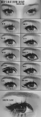 diffe eyeliner styles ranging from bambi eye cat eye upper double to