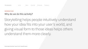 Enterprise Design Thinking Storyboards Toolkit Activity Enterprise Design Thinking