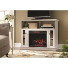 home decorators collection charles mill 46 in convertible tv stand electric fireplace in white