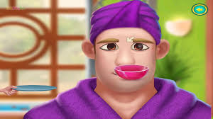 fun makeup daddy spa beauty salon funny family game for kids