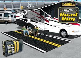 new rv camping outdoor rugs awning and patio mats for your travel trailer and fold