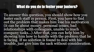 project officer interview questions project officer interview questions