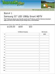 auction bid sheet template free charity auction forms images 108 silent auction bid sheet
