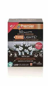 Timer 5m 50 Multi Action Battery Operated Led Lights With Timer White