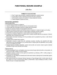Example Resume Summary Musiccityspiritsandcocktail Com