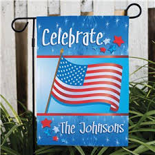 personalized celebration patriotic garden flag patriotic gifts