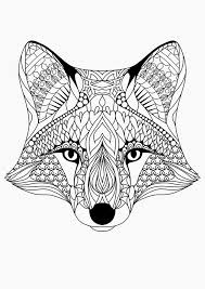 Small Picture Animal coloring pages for adults fox head ColoringStar