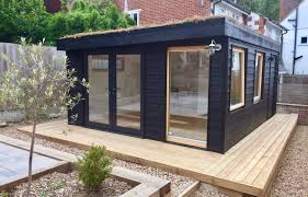 building a garden office. Black Is An Unusual Colour For A Garden Office But The Sportskabin Range Proving Popular Among Customers Of Garden2office. \ Building C