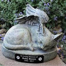 kitty cat angel pet memorial urn 9 inch