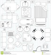Simple Furniture  Floor Plan Royalty Free Stock Image  Image Furniture Clipart For Floor Plans