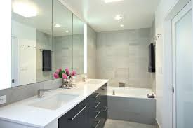 Are the vertical light fixtures by mirror cabinet from Tech lighting