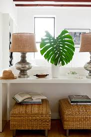 sofa table behind couch against wall. Console Tables: Some Unexpected Ideas   Decorating Files #consoletables Sofa Table Behind Couch Against Wall