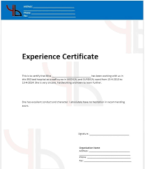 Free Work Experience 5 Free Work Experience Certificate Templates Stationery Templates