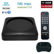Skup Tanie <b>Magicsee N6</b> Max RK3399 <b>Android</b> 7.1 TV BOX 4G 32G ...