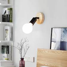 Led Wall Lamp Modern Wood Lamp Nordic Loft Style Lamps Industrial Vintage Iron Wall Light For Bar Cafe Restaurant Home Lighting