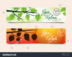 Spa Banner Design Spa Banner Website Nature Concept Design Stock Vector