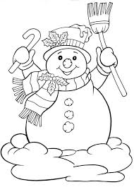 December Coloring Pages Coloring Pages Christmas Colors Snowman
