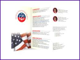 6 Political Pamphlet Template - Tipstemplatess - Tipstemplatess