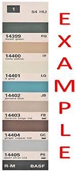 Amazon Com Basf Manufacturers Color Chips Paint Code