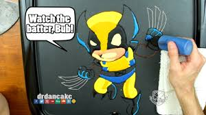 wolverine cartoon pancake art