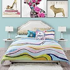 image of Oliver Gal Marble Flow Comforter Set
