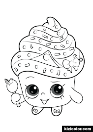 Shopkins Free Printable Coloring Pages Cupcake Queen From Coloring