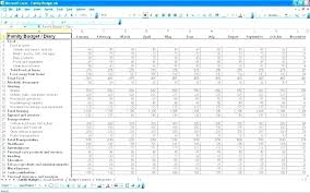 Household Expenses Spreadsheet Excel Monthly Budget Sheet Template