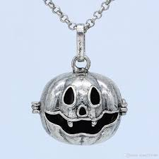 antique silver aromatherapy jewelry pumpkin cage locket openable pendant essential oil diffuser necklace with 30 chain openable pendant necklace antique