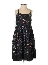 Details About Erin Fetherston For Target Women Black Casual Dress 7