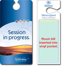 Session In Progress Door Sign Plastic And Laminated Hang Tags Ilc