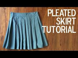 Pleated Skirt Pattern Cool DIY How To A Sew A Pleated Skirt YouTube